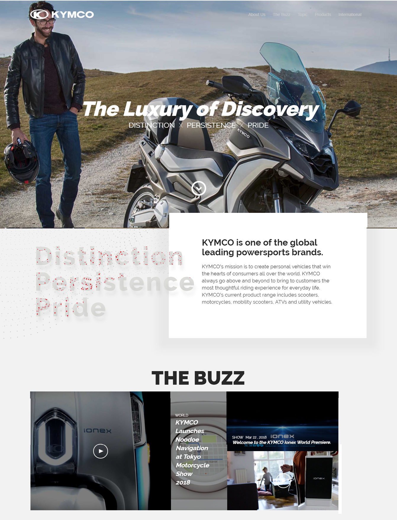 Kymco's homepage template