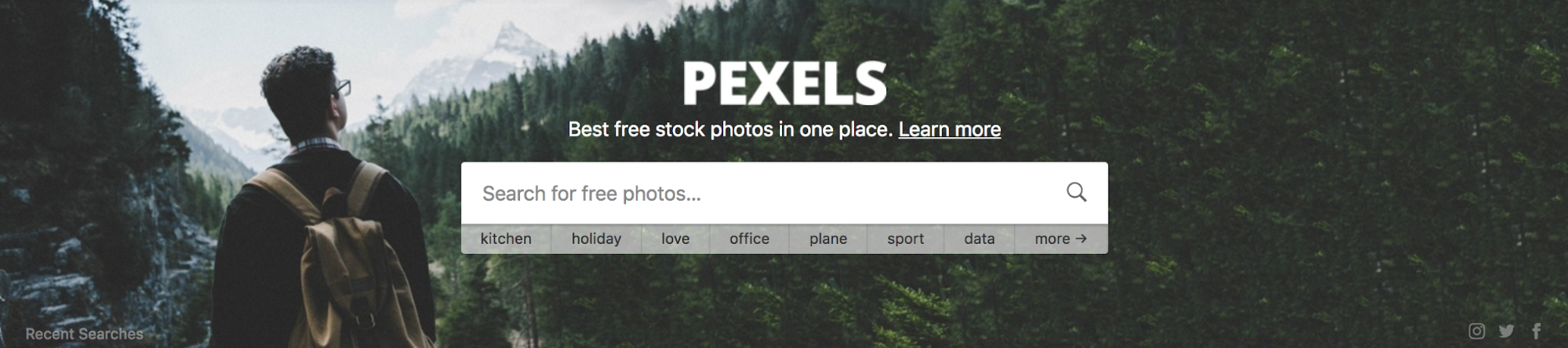Pexels website
