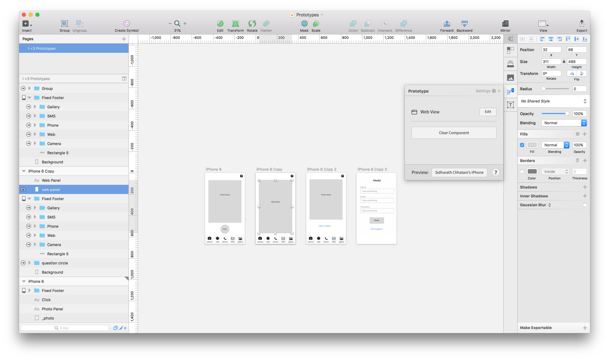Wireframing on Sketch