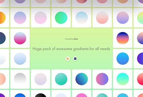 Huge pack of awesome gradients for all needs