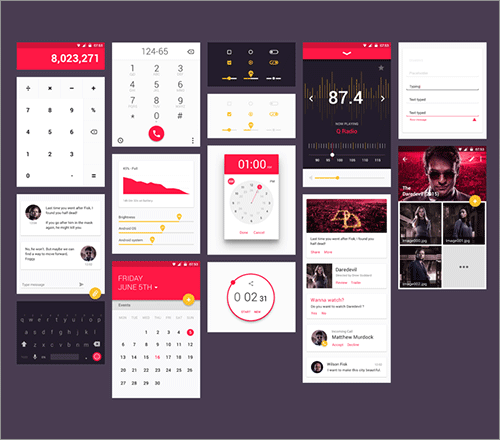 Mobile component layouts