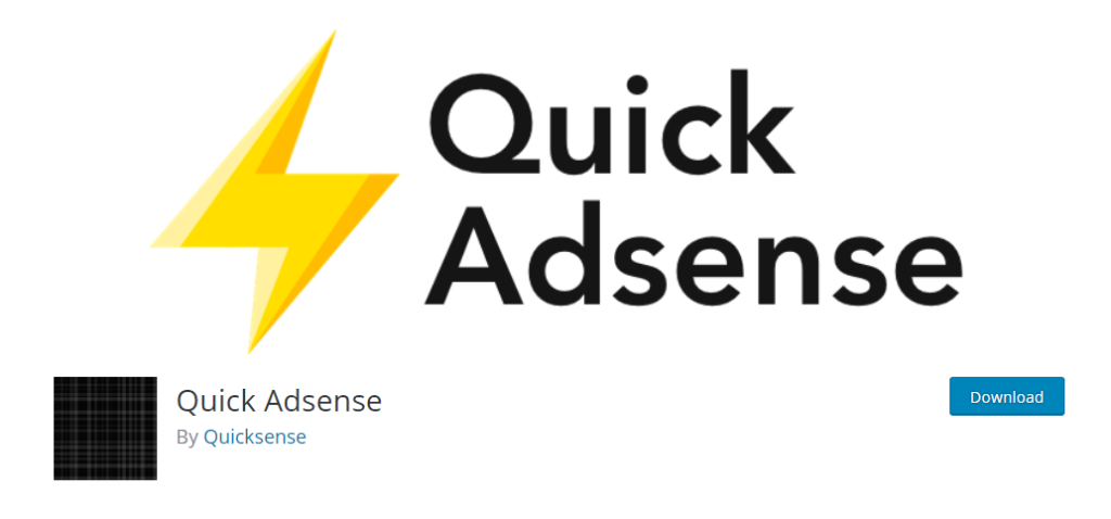 Quick Adsense wordpress plugin